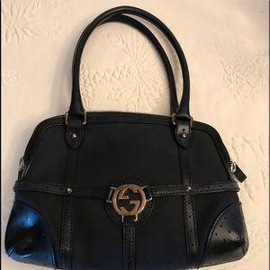 Gucci original black leather purse